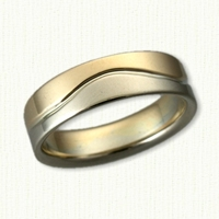 46-14kt Two Tone Custom Wave Wedding Band