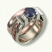 49-14kt Two Tone Custom Turkshead Wedding Set