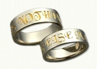 'Nothing Else Matters' Posey Wedding Rings in 14kt gold
