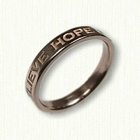 14kt Rose Gold Personalized Band - Narrow Width