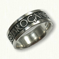 Sterling Silver Custom Name and Celtic Knot Mothers Band-(Brogan)