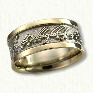 Engrave Custom Two Tone Elvish Band
