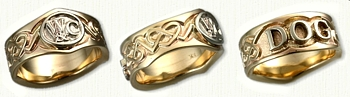 14kt Yellow Gold Custom Celtic Initial & Personalized Band