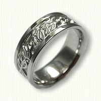 14kt White Gold Custom Personalized Name: Ally Wedding Band