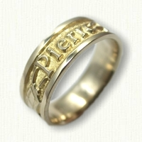 14kt Yellow Gold Custom Story & Personalized Wedding Band