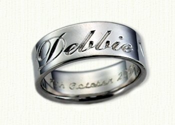 Personalized Wedding Rings Custom Designed Bands affordable