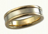 Plain & Two Tone Wedding Bands in gold and platinum