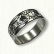 Custom Playing Card Wedding Band - Sterling Silver