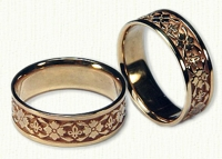 Rosette Wedding Bands