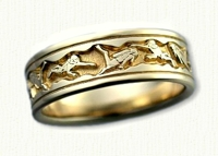14kt yellow Scuba Diver Wedding Band