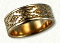 Southwestern Wedding Rings in gold and platinum - design your own band