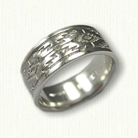 Sterling Silver Mesa Style Wedding Band