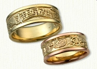 Custom Story Band : Symbols: Music - Swan - Tree of Life - Swan - DA - Guitar - Castle in Mountains