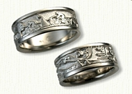 Custom Story 14kt White Gold Custom Story Band