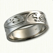 14kt White Gold Custom Story Band