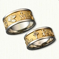 14kt Two Tone Custom Story Bands