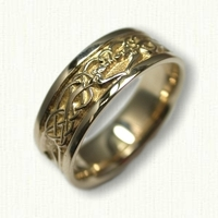 14kt Yellow Custom Story Band