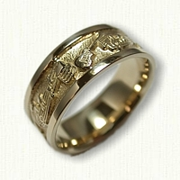 14kt Yellow Gold Custom Music Story Band