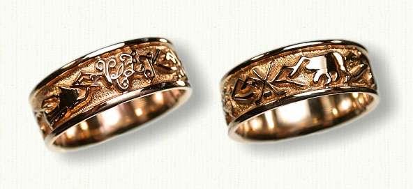 hockey design wedding rings