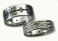 Custom Tree of Life Band (Reverse Etch)