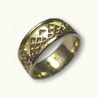 14kt Yellow Gold Custom Designed Wedding Band