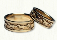 Yin Yang Wedding Rings