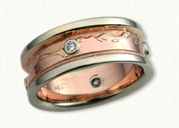 mountain range wedding bands