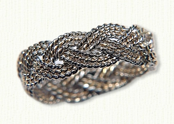 Turks Head Knot Wedding Rings & Celtic engagement Rings ...