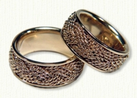 Turks Head Knot Wedding Bands