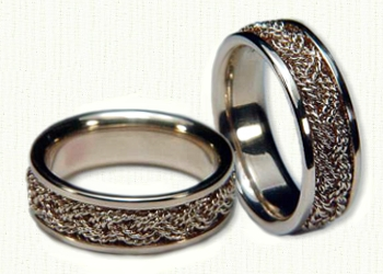 Turks Head Knot Wedding Rings Celtic engagement Rings affordable