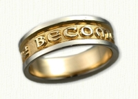 French Posey Wedding Rings in 14kt gold