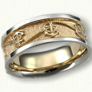 Nautical Themed Wedding Rings: affordable & unique gold ring designs!
