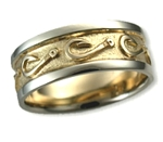 Custom Fish Hook Wedding Band