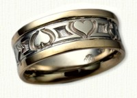 Playing Card Wedding Bands in gold and platinum